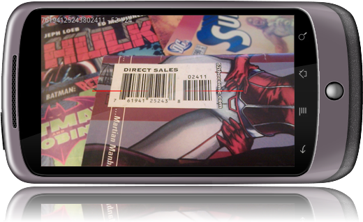 Scan comic book barcodes with CLZ Barry for Android