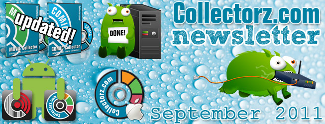 Collectorz.com Newsletter September 2011