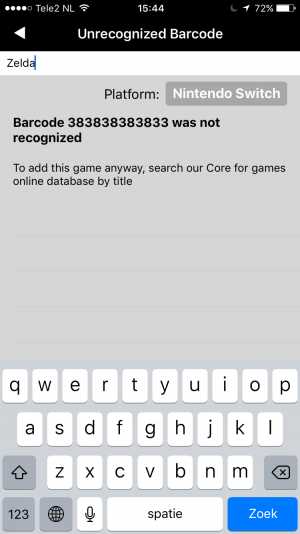 CLZ Games missing barcodes