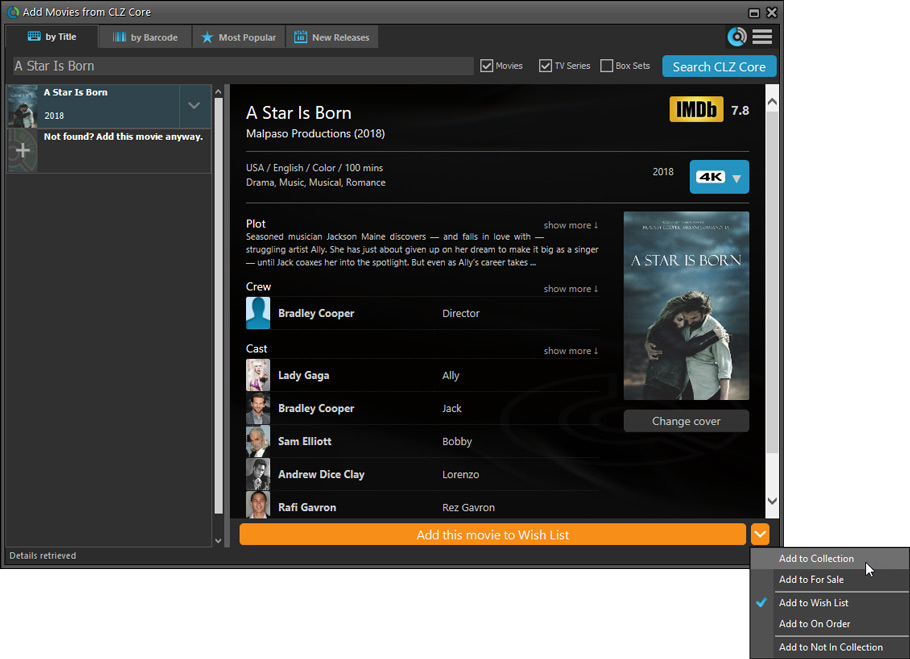 What's new in Movie Collector for Windows? - Collectorz com
